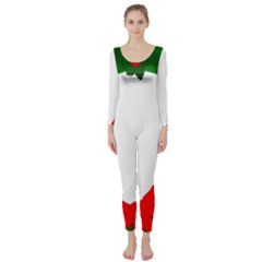 Holiday Wreath Long Sleeve Catsuit