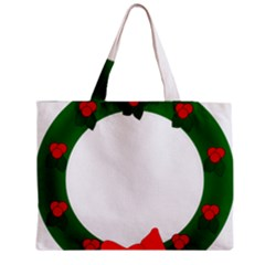 Holiday Wreath Medium Zipper Tote Bag