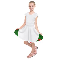 Holiday Wreath Kids  Short Sleeve Dress