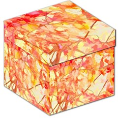 Monotype Art Pattern Leaves Colored Autumn Storage Stool 12