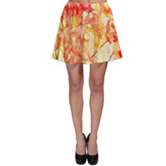 Monotype Art Pattern Leaves Colored Autumn Skater Skirt