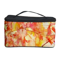 Monotype Art Pattern Leaves Colored Autumn Cosmetic Storage Case