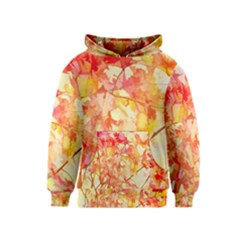 Monotype Art Pattern Leaves Colored Autumn Kids  Pullover Hoodie