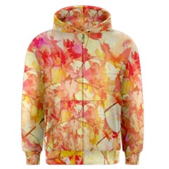 Monotype Art Pattern Leaves Colored Autumn Men s Zipper Hoodie