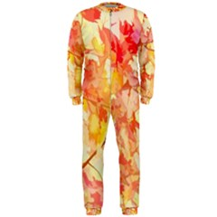 Monotype Art Pattern Leaves Colored Autumn Onepiece Jumpsuit (men)