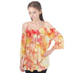 Monotype Art Pattern Leaves Colored Autumn Flutter Tees