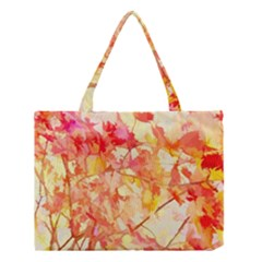 Monotype Art Pattern Leaves Colored Autumn Medium Tote Bag