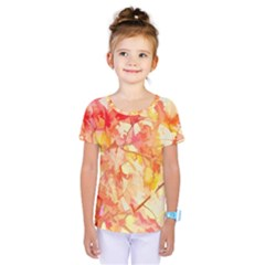 Monotype Art Pattern Leaves Colored Autumn Kids  One Piece Tee