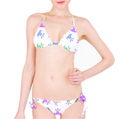 Rainbow Clown Pattern Bikini Set