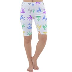 Rainbow Clown Pattern Cropped Leggings
