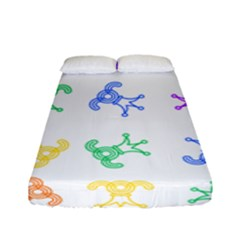 Rainbow Clown Pattern Fitted Sheet (full/ Double Size)