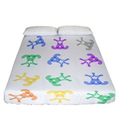 Rainbow Clown Pattern Fitted Sheet (california King Size)