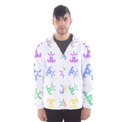Rainbow Clown Pattern Hooded Wind Breaker (men)