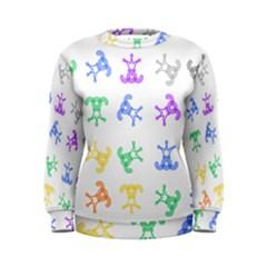 Rainbow Clown Pattern Women s Sweatshirt