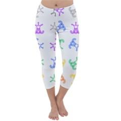 Rainbow Clown Pattern Capri Winter Leggings