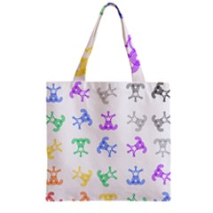 Rainbow Clown Pattern Zipper Grocery Tote Bag