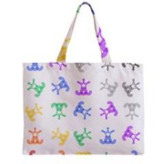 Rainbow Clown Pattern Zipper Mini Tote Bag
