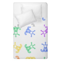 Rainbow Clown Pattern Duvet Cover Double Side (single Size)