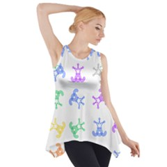 Rainbow Clown Pattern Side Drop Tank Tunic