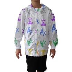 Rainbow Clown Pattern Hooded Wind Breaker (kids)