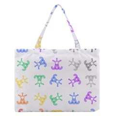 Rainbow Clown Pattern Medium Zipper Tote Bag