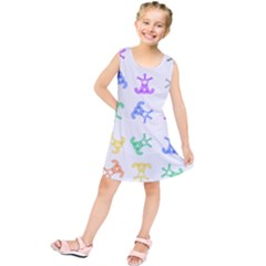 Rainbow Clown Pattern Kids  Tunic Dress