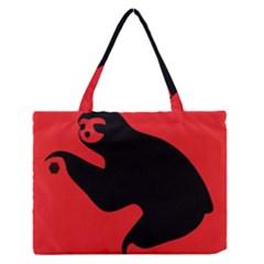 Animal Sloth Medium Zipper Tote Bag