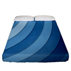 Blue Wave Fitted Sheet (king Size)