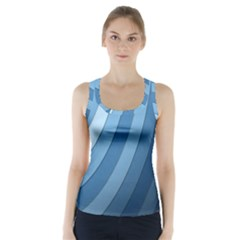 Blue Wave Racer Back Sports Top