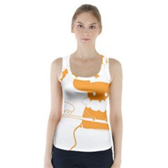 Brushing Teeth Mouse Orange Racer Back Sports Top