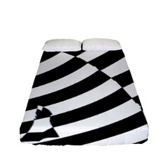 Casino Cat Ready For Scratching Black Fitted Sheet (full/ Double Size)