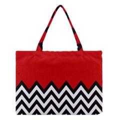 Chevron Red Medium Tote Bag