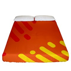 Color Minimalism Red Yellow Fitted Sheet (king Size)