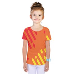 Color Minimalism Red Yellow Kids  One Piece Tee