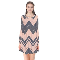 Chevron Ideas Gray Colors Combination Flare Dress