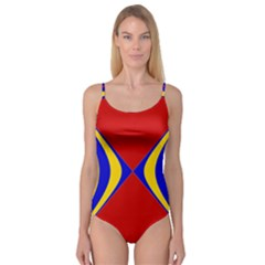 Concentric Hyperbolic Red Yellow Blue Camisole Leotard