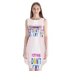 Dont Crt Fun Mermaids Pink Sleeveless Chiffon Dress