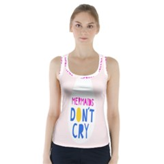Dont Crt Fun Mermaids Pink Racer Back Sports Top