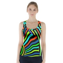 Colorful Cat Racer Back Sports Top