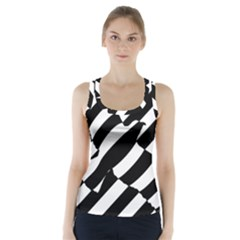 Flaying Bird Black White Racer Back Sports Top