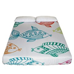 Fish Fitted Sheet (california King Size)