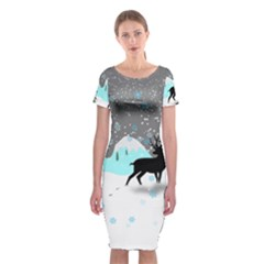 Rocky Mountain High Colorado Classic Short Sleeve Midi Dress
