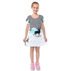 Rocky Mountain High Colorado Kids  Short Sleeve Velvet Dress