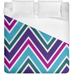 Fetching Chevron White Blue Purple Green Colors Combinations Cream Pink Pretty Peach Gray Glitter Re Duvet Cover (king Size)
