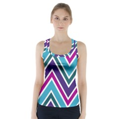 Fetching Chevron White Blue Purple Green Colors Combinations Cream Pink Pretty Peach Gray Glitter Re Racer Back Sports Top