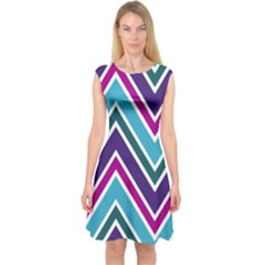 Fetching Chevron White Blue Purple Green Colors Combinations Cream Pink Pretty Peach Gray Glitter Re Capsleeve Midi Dress