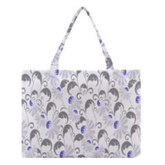 Flourishy Floral Flower Purple Medium Tote Bag