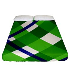 Green Plaid Fitted Sheet (california King Size)