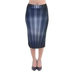 Grey Black Velvet Midi Pencil Skirt