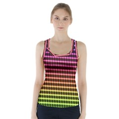 Halftone Pattern Rainbow Racer Back Sports Top